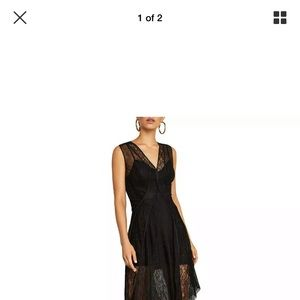BCBGMaxazria Dress Black mesh sleeveless size M